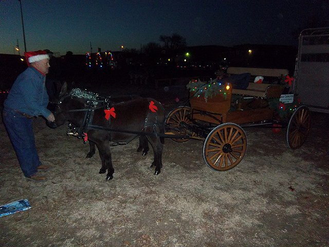 Preparing the team for the  Night Time Parade in Derby, Kansas